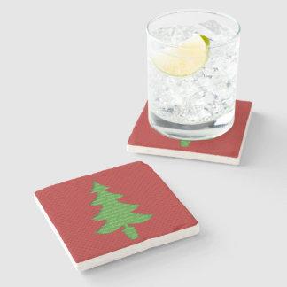 Mármol Stone Coaster - Arbol de Navidad Posavasos De Piedra
