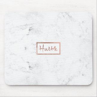 Mármol subió tipografía moderna del blanco del oro mouse pad