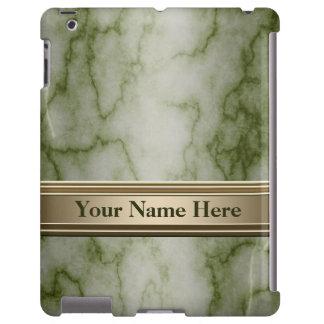 Mármol verde y blanco funda para iPad