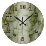 Mármol verde y blanco relojes de pared