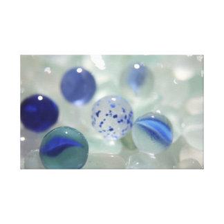 Mármoles azules de cristal del mar lona envuelta para galerias