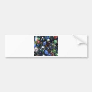 Mármoles de cristal pegatina de parachoque