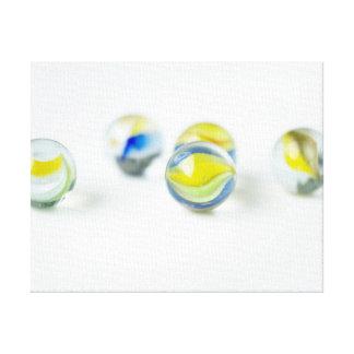 Mármoles de cristal coloridos impresión de lienzo