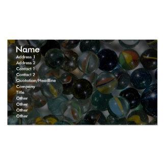 Mármoles de cristal coloridos tarjetas de visita