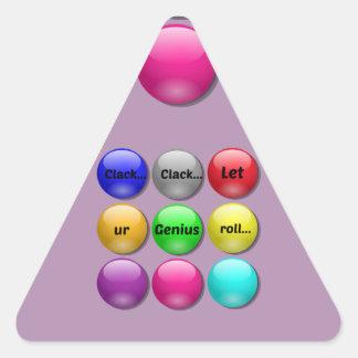 Mármoles de pensamiento de la charla de la palabra pegatina triangular