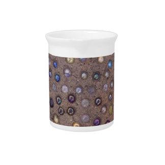 Mármoles en el cemento jarrones