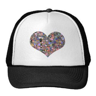 Mármoles florales del amor gorras de camionero