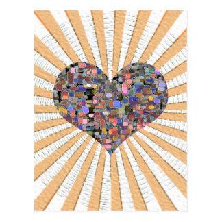Mármoles florales del amor tarjetas postales