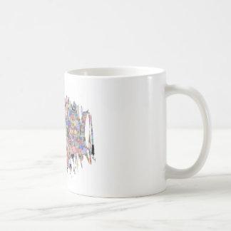 Mármoles florales maravillosos taza