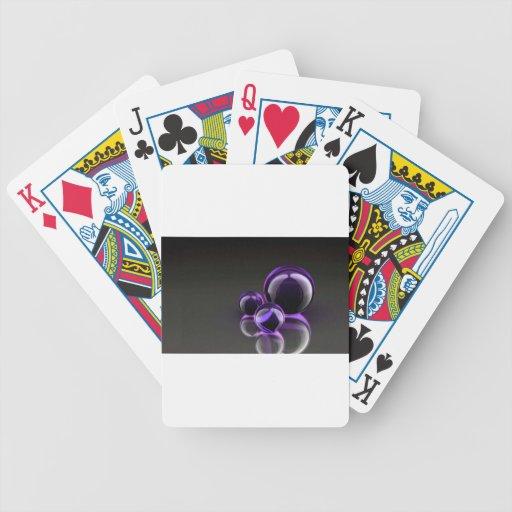 Mármoles púrpuras barajas de cartas