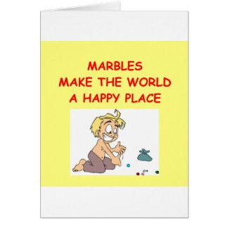 mármoles tarjeta de felicitación