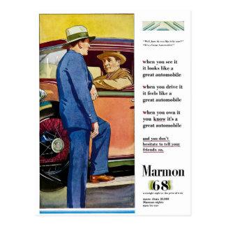 Marmon 68 - Anuncio del automóvil del vintage Postales