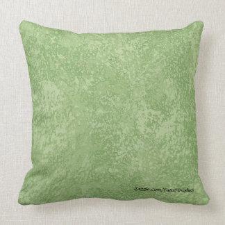 Marmorino Green Faux Finish Pattern Throw Pillows
