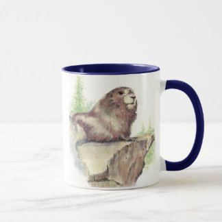 Marmot Animal, Rocks, Nature, Wildlife Mug