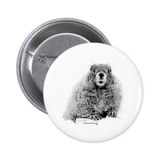 Marmot Pinback Button