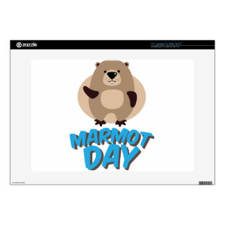 """Marmot Day - Appreciation Day Decal For 15"""" Laptop"""