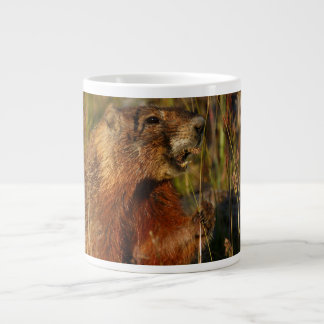 marmot eating grass giant coffee mug