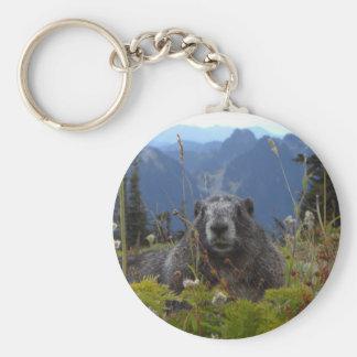marmot in paradise keychain