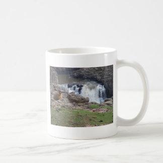 Marmot next to Palouse Falls Coffee Mug