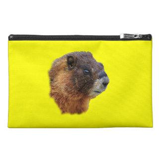 marmot portrait travel accessory bag