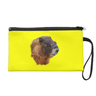 marmot portrait wristlet purses