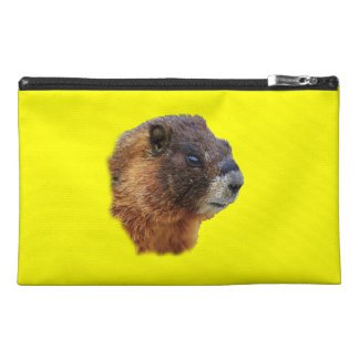 marmot portrait travel accessory bag
