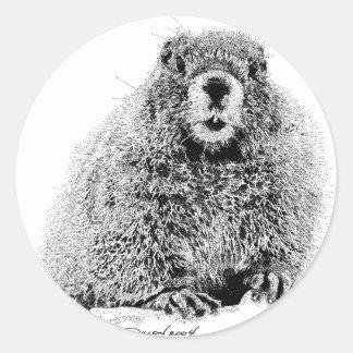 Marmot Round Sticker