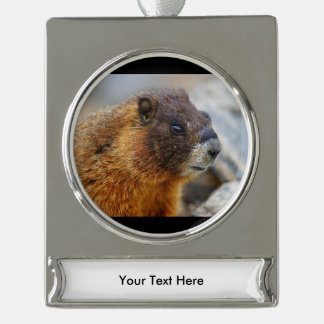 marmot silver plated banner ornament