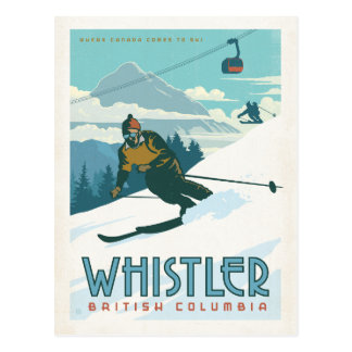 Marmota, Columbia Británica Tarjetas Postales