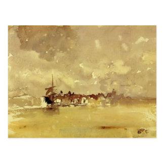 Marmota de James: La ducha soleada - Dordrecht Tarjeta Postal