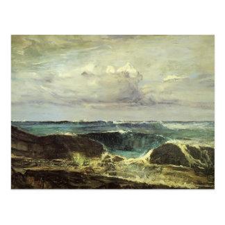 Marmota de James McNeill la onda azul Biarritz Tarjeta Postal