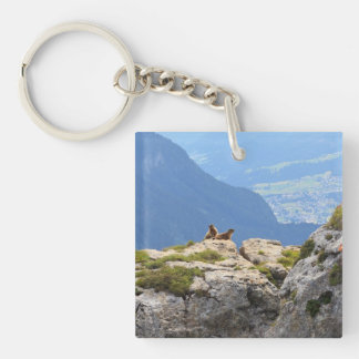 Marmots and Fassa Valley Keychain