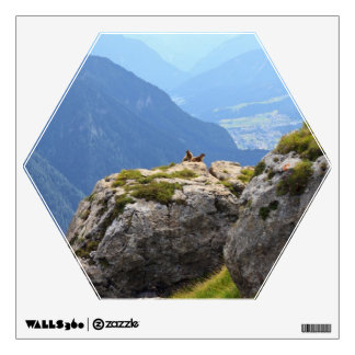 Marmots and Fassa Valley Wall Sticker