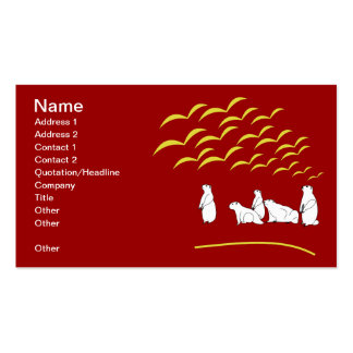 Marmots look at flying birds Business Card