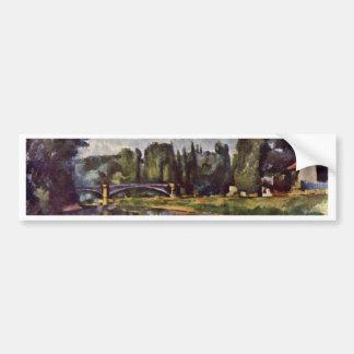 Marne-Shore By Paul Cézanne (Best Quality) Car Bumper Sticker