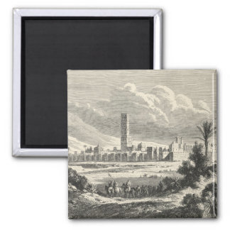 Marocco: Africa, 1860s 2 Inch Square Magnet
