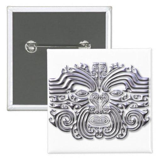 Maroi tattoo-silver 2 inch square button