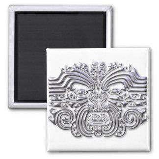 Maroi tattoo-silver 2 inch square magnet