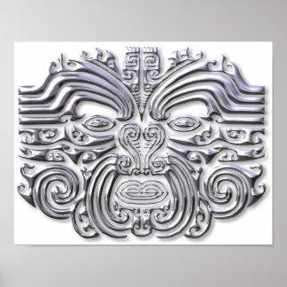 Maroi tattoo-silver poster