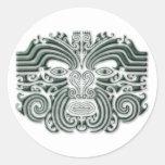 Maroi tattoo-stone round sticker