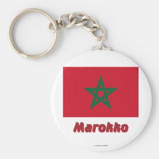 Marokko Flagge mit Namen Keychain