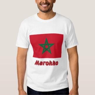 Marokko Flagge mit Namen T-Shirt