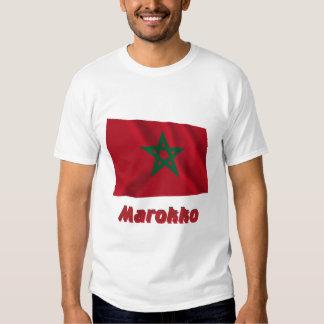 Marokko Fliegende Flagge mit Namen T-Shirt