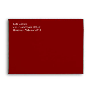Maroon A7 5x7 Envelopes With Your Address