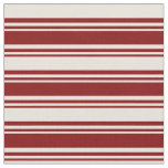 [ Thumbnail: Maroon and Beige Lines/Stripes Pattern Fabric ]