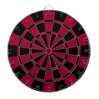 Maroon And Black Dartboard