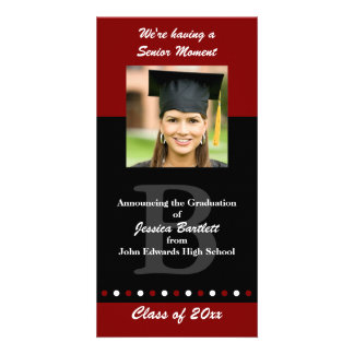 Maroon and Black Graduation Announcement