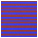 [ Thumbnail: Maroon and Blue Colored Striped Pattern Fabric ]