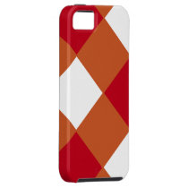 Maroon and Burnt Orange Checked iPhone SE/5/5s Case