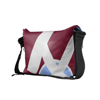 Maroon and Freedom Blue Bag Courier Bags